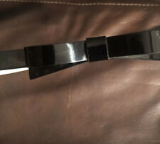 Kate Spade Black Patent Leather Belt with Bow Size L Made In Italy