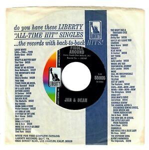 """Jan & Dean 1966 Liberty 45rpm """"Fiddle Around"""" b/w """"A Summer's Dream"""" cLEAn!"""