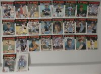 1986 Topps Minnesota Twins Team Set of 26 Baseball Cards