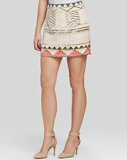 Sanctuary Embellished Party Sequin Beaded Mini Skirt MEDIUM M abstract print
