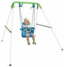 Toddler Kids Baby Swing Set Indoor Outdoor Backyard Swingset Folding Playset NEW