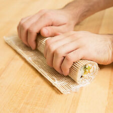 "USA SELLER MAKISU JAPANESE BAMBOO SUSHI ROLLING MAT 9.5"" X 9.5"""