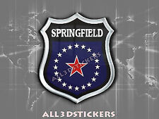 3D Emblem Sticker Resin Domed Flag Springfield - USA Adhesive Decal Vinyl
