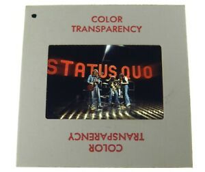 Status Quo Rock band The Midnight Special 1974 35mm transparency slide photo