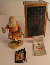 Duncan Royale Santa Claus Soda Pop Hand Carved Wood Signed 1st Ed 182/500 Italy