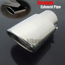 "2.5"" Inlet Oval Car Chrome Exhaust Tip Tail Pipe Muffler Stainless Steel Durable"