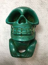 Old Carved Chinese Turquoise Skeleton Man Statue