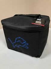 Detroit Lions Insulated Cooler Logo Brands NFL Black