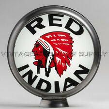 "Red Indian 13.5"" Gas Pump Globe w/ Steel Body (G419)"