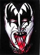 KISS Deluxe Ultra-Premium Trading Cards Gene Simmons Autograph Card Black A
