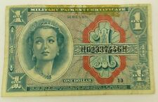 """1964-1969 U.S. $1 Dollar """"MPC"""" Military Payment Certificate/Banknote Series 611"""