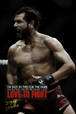 """JORGE MASVIDAL """"GAMEBRED"""" QUOTE PHOTO PRINT POSTER PRE SIGNED - 12X8 INCH (A4)"""