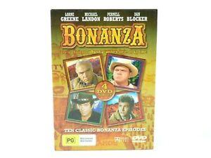 Bonanza DVD 4-Disc Box Set 10 Episodes Western TV Classic Region 4