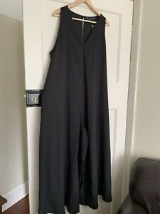 Asos Maternity Jumpsuit Wide Leg Floaty Black Size 16