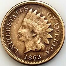 1863 Indian Head Cent! Copper nickel composition! Add this coin to your album!