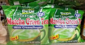 2 PACK DEDE 3 IN 1 INSTANT MATCHA GREEN TEA WITH CREAM SUGAR 🍵