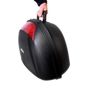 Motorcycle Universal Top Box 52L 2 Rear Helmet Luggage Back Storage Motorbike