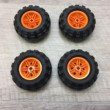 Lego 56 X 26 Technic Wheel Lot  4 pcs Mindstorms Rims Wheels Tires Orange