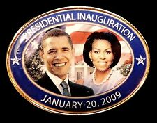 OFFICIAL BARACK OBAMA 2009 PRESIDENTIAL INAUGURATION SOUVENIR PIN BADGE USA