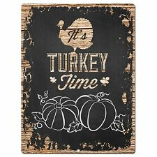 PP1928 IT'S TURKEY TIME Plate Chic Sign Home Restaurant Thanksgiving Decor Gift