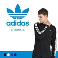 Adidas Originals Mens Tshirt 3 Stripes California Long Sleeve Crew Neck M L XL