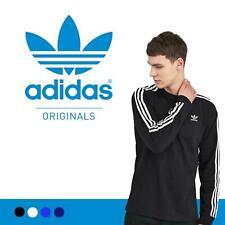 Adidas Originals Mens Tshirt 3 Stripes California Long Sleeve Crew Neck M L XL