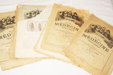 LA MEDECINE 8 LIVRAISONS ILLUSTREE 1888 GRAVURES ANOMALIES MEDICALES