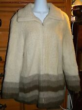 EIDER KNIT 100 % WOOL ZIP UP COAT JACKET MADE IN ICELAND SZ MED GOOD CONDITION