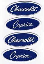 CHEVROLET CAPRICE BLUE WHITE EMBROIDERED SEW/IRON ON PATCH EMBLEM BADGE
