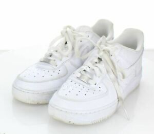 27-11  $120 Men's Sz 8 M Nike Air Force 1 '07 Leather Lace-Up Sneakers In White