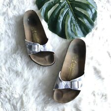 BIRKENSTOCK Papillio MADRID Women's Plaid Slides Sandals size 41 NARROW