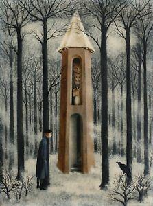 """REMEDIOS VARO Surrealism Art Poster or Canvas Print """"L'ÉCOLE BUISSONNIÈRE"""""""