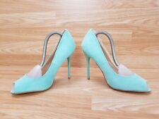 Ladies Ajvani Green Teal Suede High Heels Stiletto Shoes Size 6 UK 39 EUR