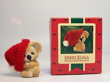 Vintage Hallmark Keepsake Ornament 1986 Merry Koala in Santa Hat - #QX4153