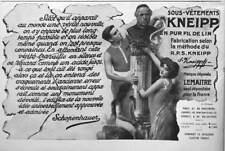 PUBLICITÉ DE PRESSE 1911 SOUS-VÊTEMENTS KNEIPP EN PUR FIL DE LIN