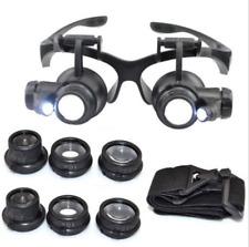 Lo ÚLTIMO LED Lupa lupa de 8 Lente Doble Gafas Joyero Reparación del Reloj f8be0b1b63