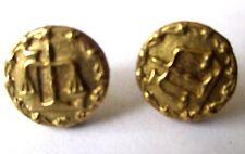 boucles d'oreilles percées clous Balance gravé bijou vintage couleur or 476