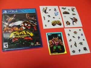 Fight'n Rage PS4 Limited Run With Card #202 And All 3 Sticker Sheets