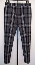 $795 GUCCI BLACK AND WHITE 100% COTTON CROPPED SUMMER CAPRI PANT SIZE 42