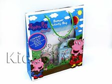 Peppa Pig Bumper Activity Bag Pack Colouring Poster Play Set Travel Carry Handle