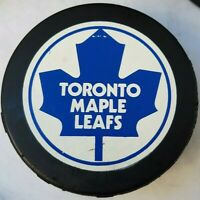 TORONTO MAPLE LEAFS VINTAGE VICEROY NHL OFFICIAL GAME PUCK MADE IN CANADA *hole