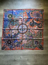 Pre-owned Authentic Hermes Silk Scarf 90cm
