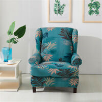 Printed Armchair Wingback SlipCover Wing Chair Cover Stretch Home Protector A+