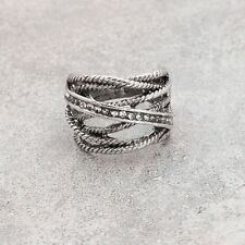 NEW Rope Belt Silver Ring Band Wrap Vintage Women Jewelry Fashion Punk Gift
