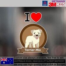 Terrier Mix Dog Illustration Sticker Style Custom cute Gift  9.6 cm  x 12.6 cm