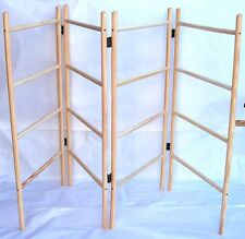 WOODEN AIRER - four panel, sturdy, traditional, pinewood, clothes airer/horse