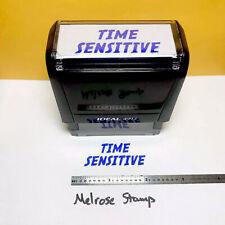 New Listingtime Sensitive Rubber Stamp Blue Ink Self Inking Ideal 4913
