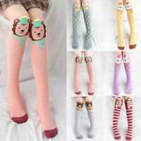 Kids Girls Cartoon Cotton Socks Breathable Knee High Long Warm Stocking Socks