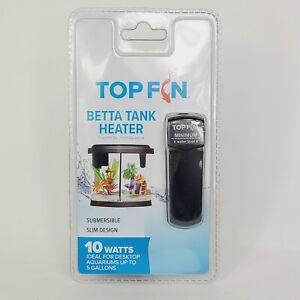 TOPFIN Betta Tank Heater Aquariums Up to 5 Gallons Submersible Silm Design 10W