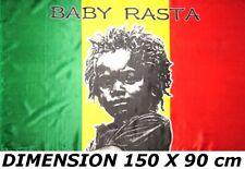 BANDIERA 150 X 90 cm BABY RASTA GIAMAICA BOB MARLEY no sciarpa cappello maglia